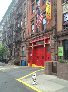 beautiful upper west side firestaion with dalmation fire hydrant - classic