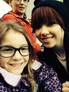 Eva and Carly Rae Jepsen after the show