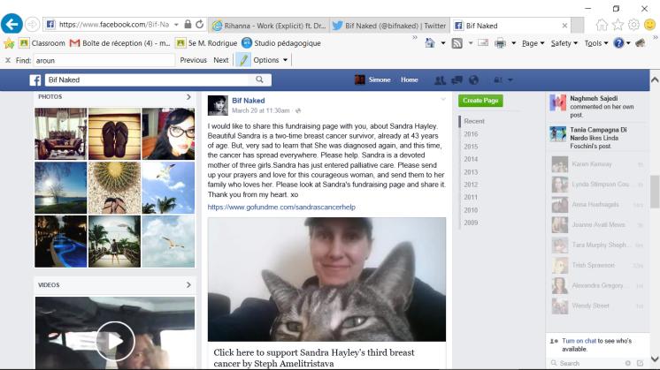 bif naked facebook message