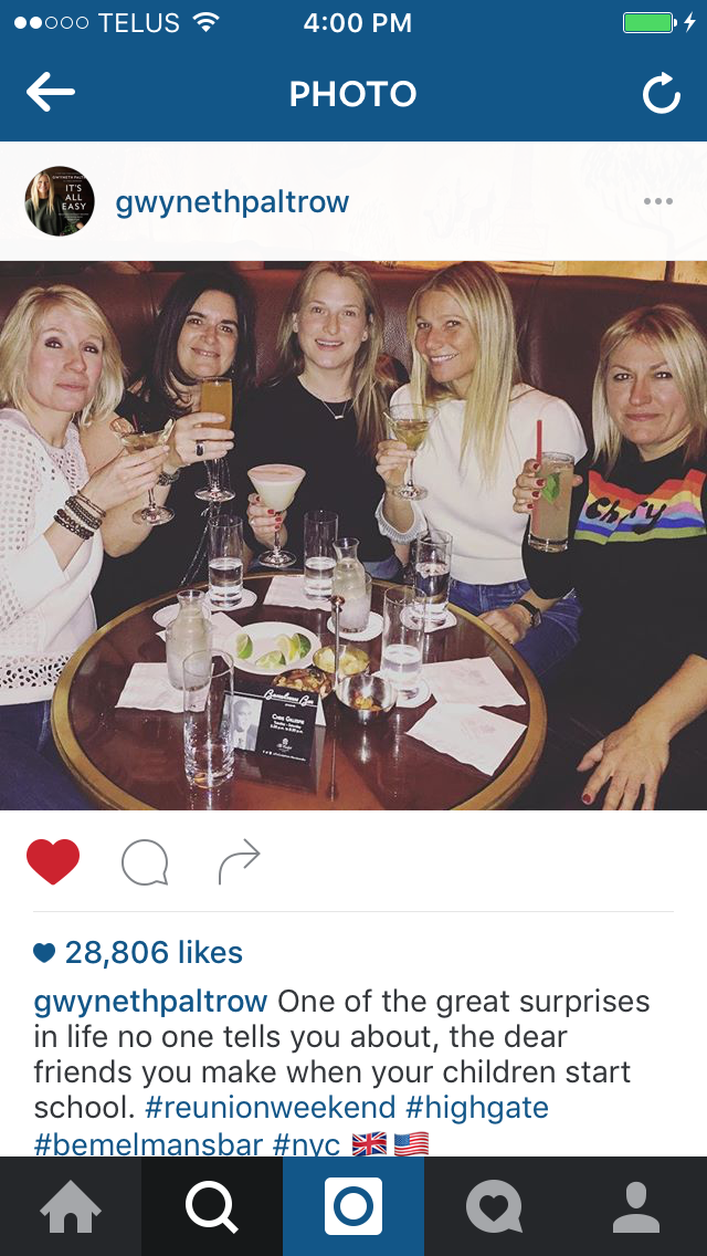 Gwyneth Paltrow with school mama's