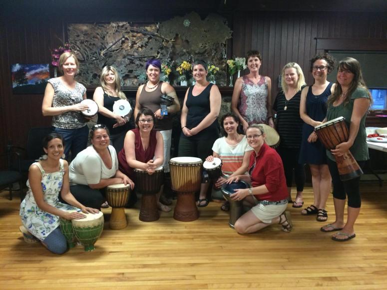 Ottawa breast cancer ladies drumming